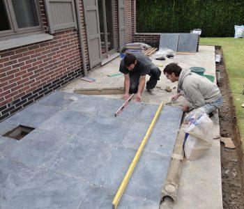 terras aanleggen