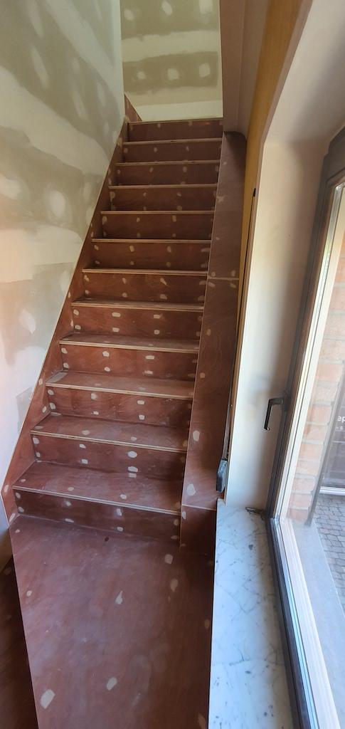 houten trap op maat, multiplex trap op maat
